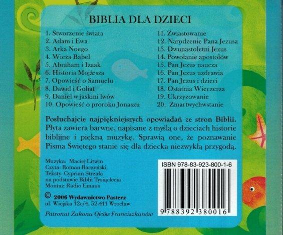 Biblia dla dzieci - słuchowisko CD
