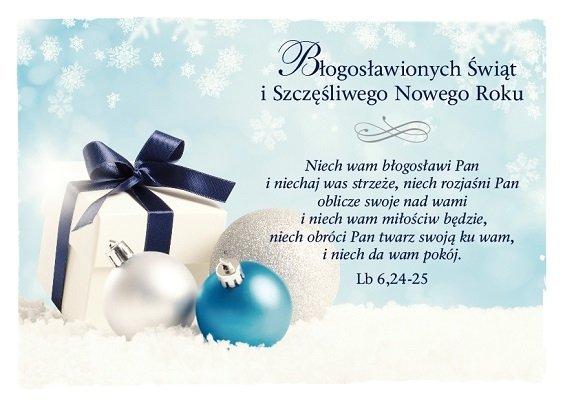 Kartka Boże Narodzenie 5 - Niech wam błogosławi Pan w cenie 3,00 zł - Księgarnia religijna