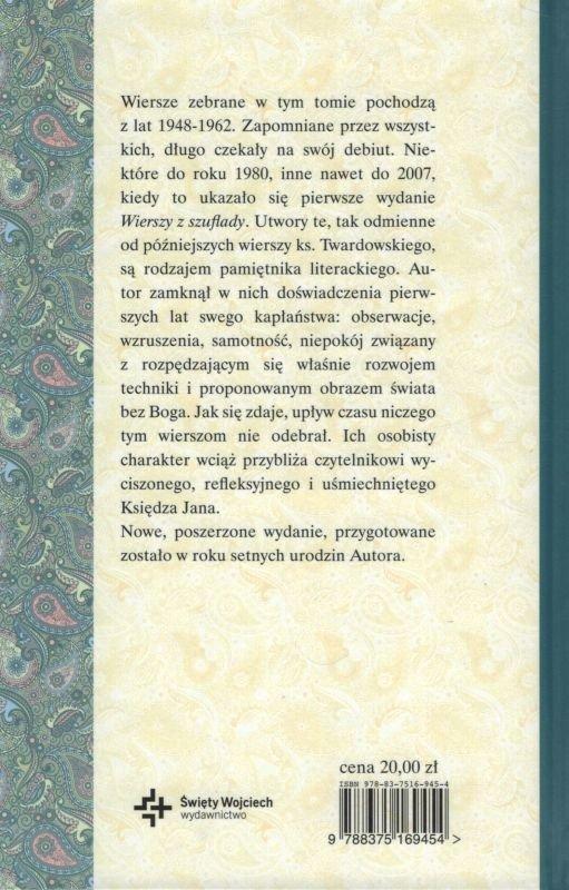 Wiersze Z Szuflady Ks Jan Twardowski Oprawa Twarda