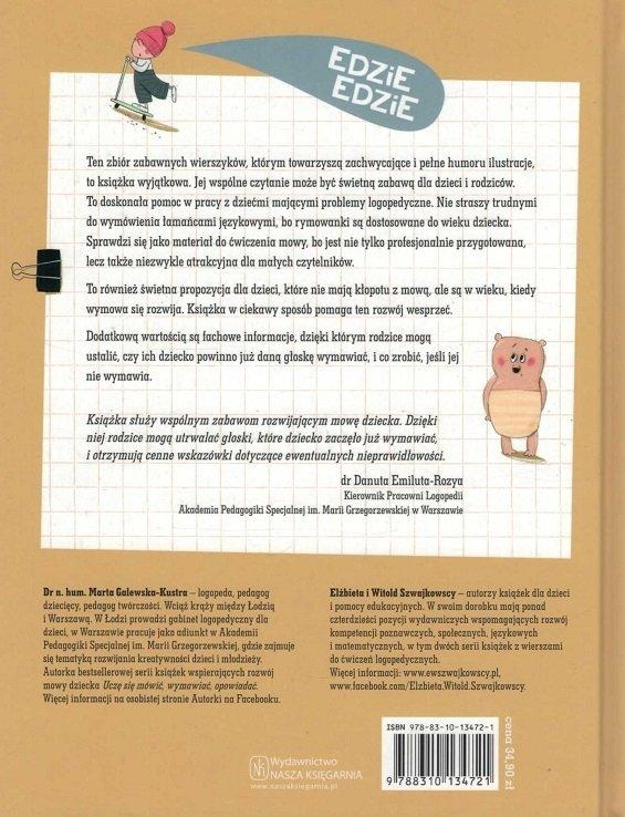 Wierszyki ćwiczące Języki Rymowanki Logopedyczne Marta Galewska Kustra Elzbieta I Witold Szwajkowscy Ilustracje Joanna Kłos