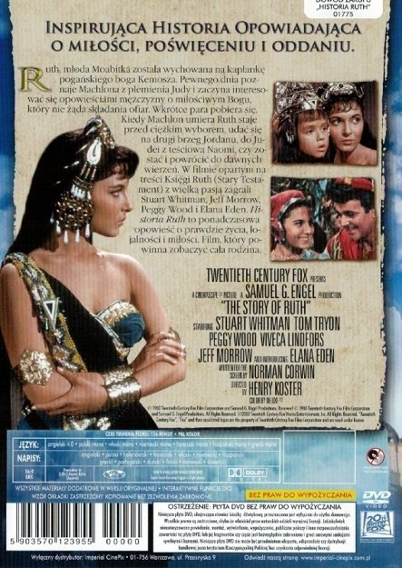 Historia Ruth - The story of Ruth - film DVD
