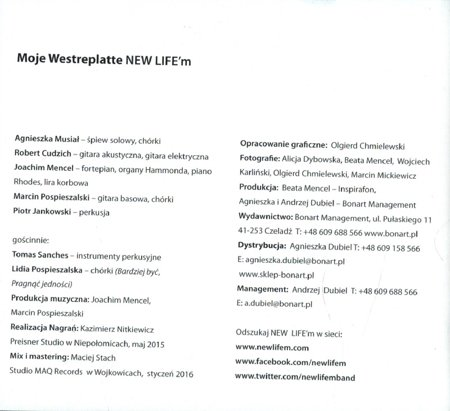 New Life'M - Moje Westerplatte - CD