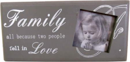 Ramka drewniana na zdjęcie - Family all because two people fell in LOVE
